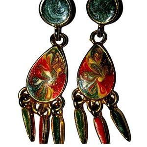 Vintage earrings multi color